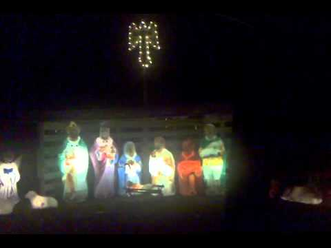 Christmas lights at the Gaddy's with Emma - YouTube