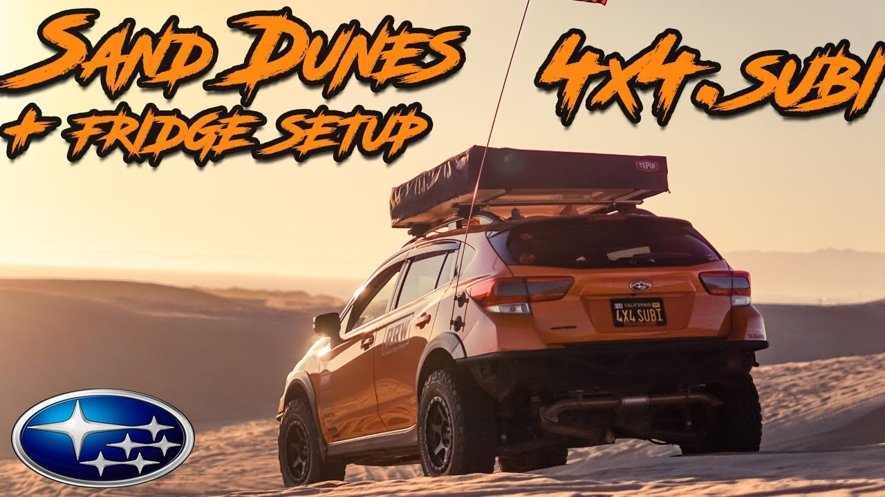 Getting my Subaru Stuck in the Sand Dunes + On-board Camping Fridge Setup
