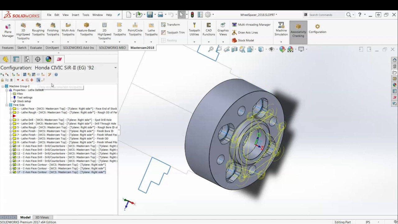 Mastercam 2018 for solidworks wheel spacer design table for Design table not working solidworks