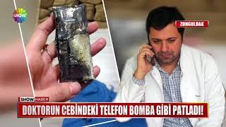 Doktorun cebindeki telefon bomba gibi patladı!
