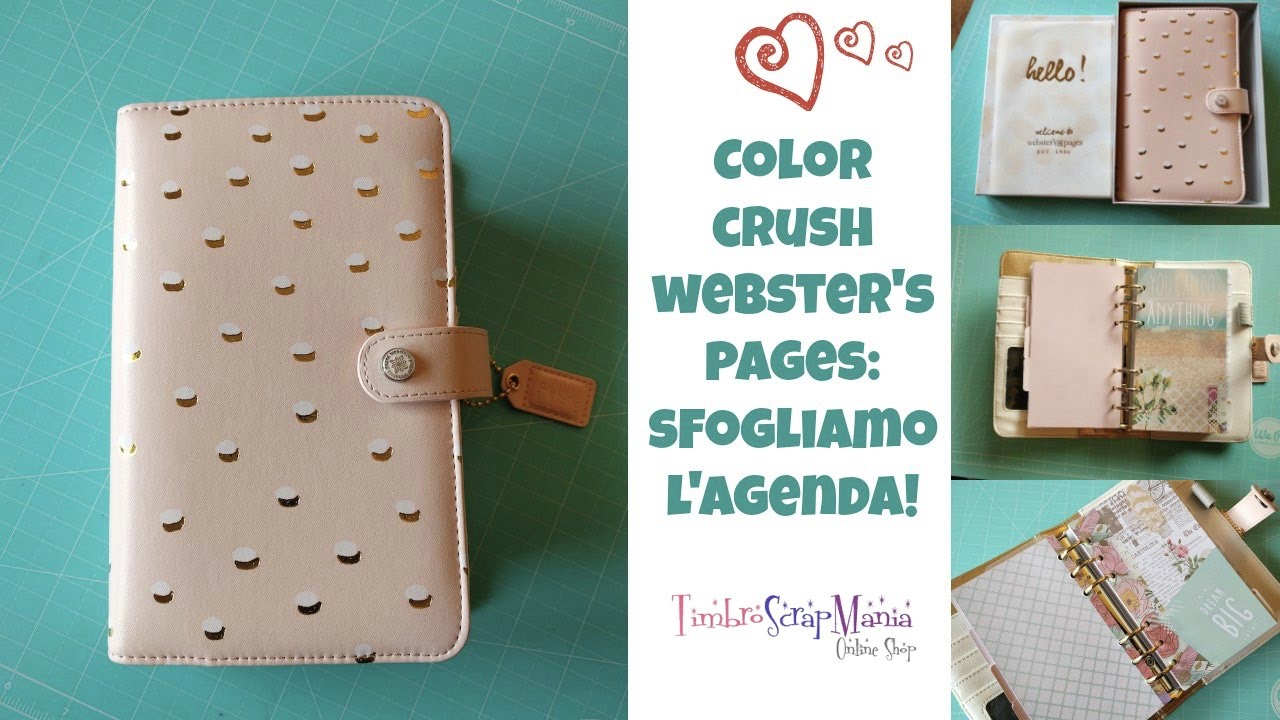 Color Crush Webster S Pages Review Sfogliamo L Agenda Youtube