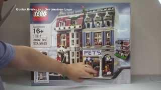 Lego Pet Shop Set 10218 Modular Building Unboxing (2011 Set)