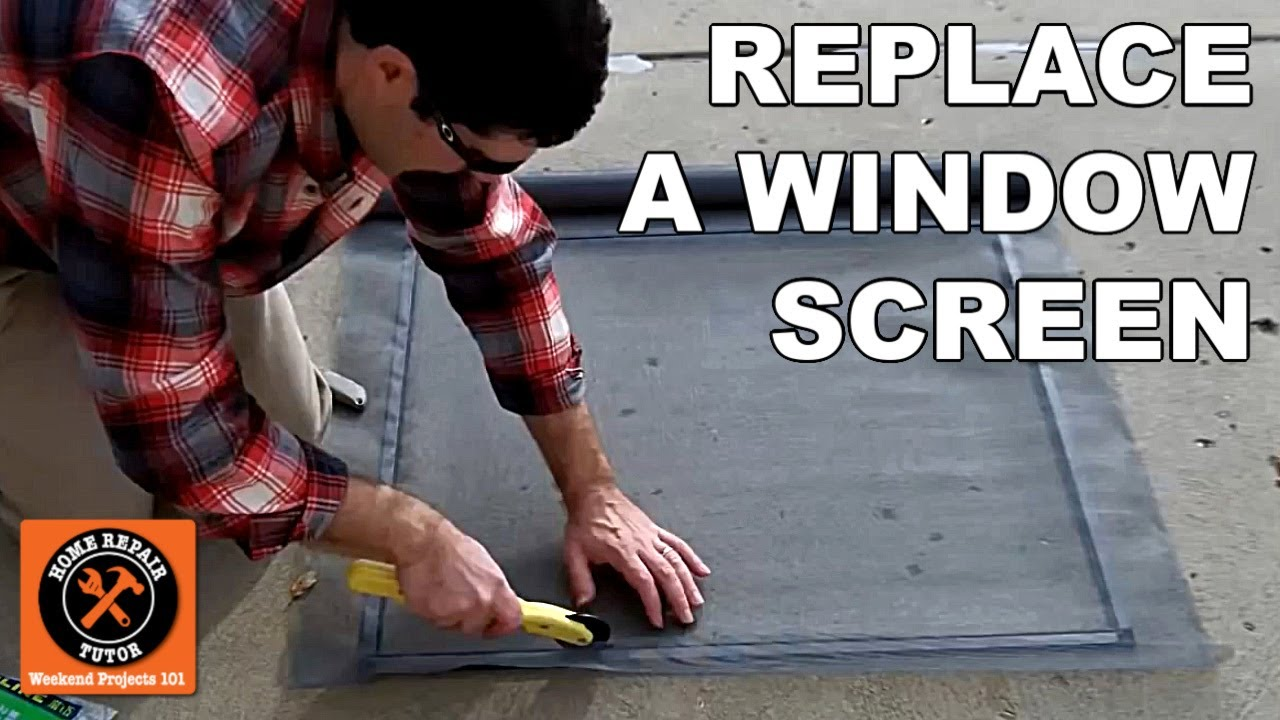 custom window screens how to replace a fiberglass mesh screen by home repair tutor