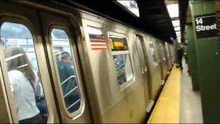 BMT Broadway Line: 57th Street-7th Avenue bound R-160B Q express train @ 14th St-Union Square!
