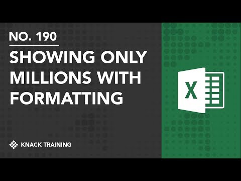 Showing only Millions with Custom Number Formatting | Everyday Office 080