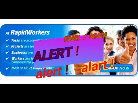 Alert ! Alert ! 100% FAKE or SCAM rapidworkers   i lost my $250 without any  reason