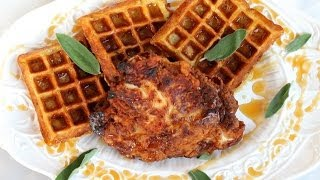 Dinner Recipe: Fried Chicken & Sage Waffles By Cookingforbimbos.com