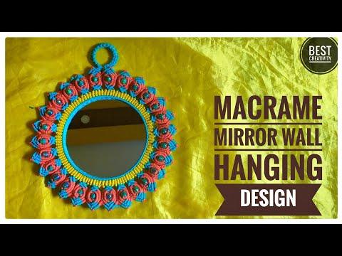 DIY Macrame Mirror Wall Hanging