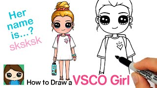 How to Draw a Tumblr VSCO Cute Girl