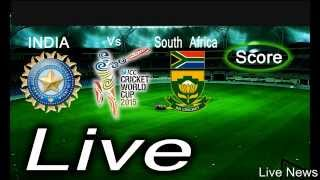India vs South Africa LIVE SCORE:cricket world cup 2015