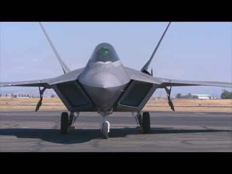 2010 California Capital Airshow - F-22 Raptor Startup, Preflight checks