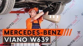 Jak vyměnit motorový olej a olejový filtr na MERCEDES-BENZ VIANO W639 [NÁVOD]