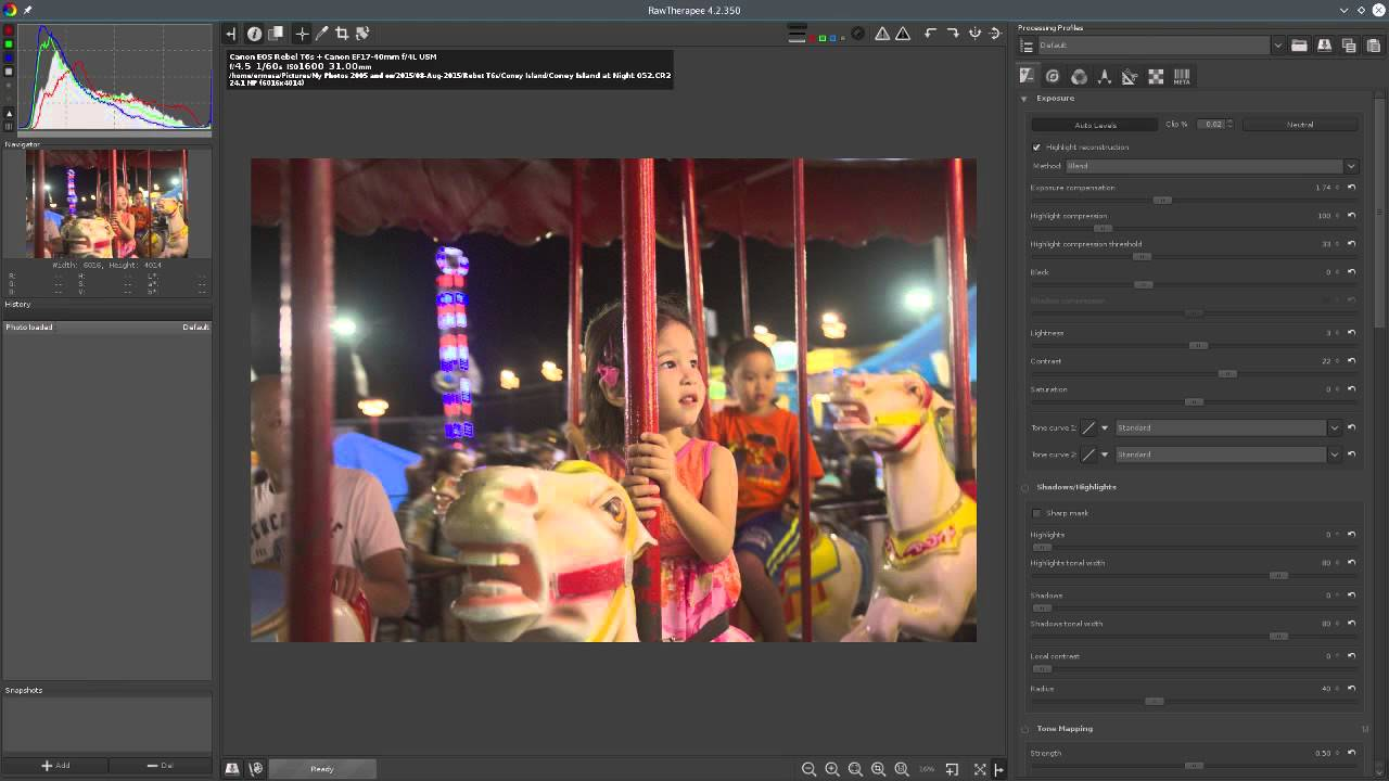 Photography Post Processing on LInux with Digikam and RawTherapee