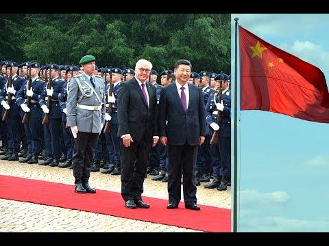 Ehrenbataillon - Xi Jinping - Militärische Ehren im Schloss Bellevue