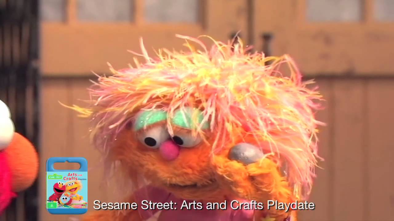Sesame street arts and crafts playdate dvd preview for Youtube art and craft
