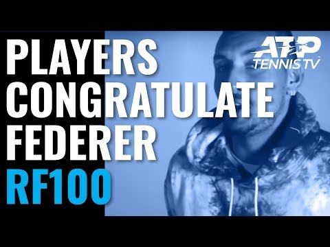 Federer Congratulated by Fellow ATP Players After 100th Title!