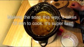 How To Make Hot Process Soap In 10-15 Minutes, Making Oatmeal Milk & Honey