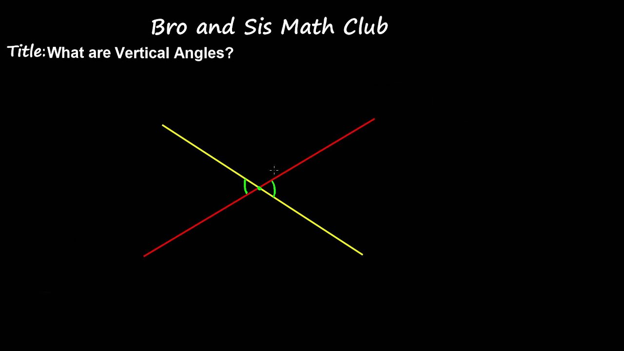 Vertical Angles 7th Grade Math