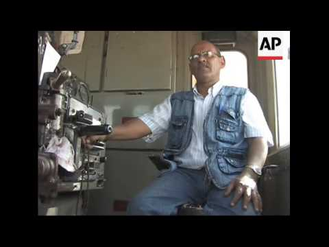 Locomotive giant traverses the Mauritanian desert