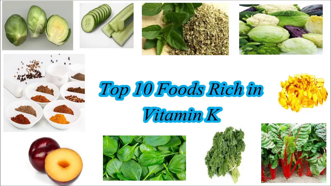 From what sources can you get vitamin K