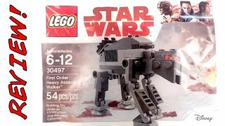 30497 First Order Heavy Assault Walker Review!   LEGO Star Wars The Last Jedi 2017