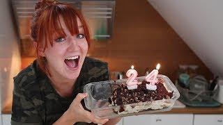 Veganer Cookie Dough Ice Cream Brownie Kuchen - glutenfreier Geburtstagskuchen!