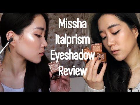 MISSHA Italprism Eyeshadow Review | Swatches | Demo