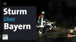Hochwasser und Sturm in Bayern - viele Rettungseinsätze | BR24