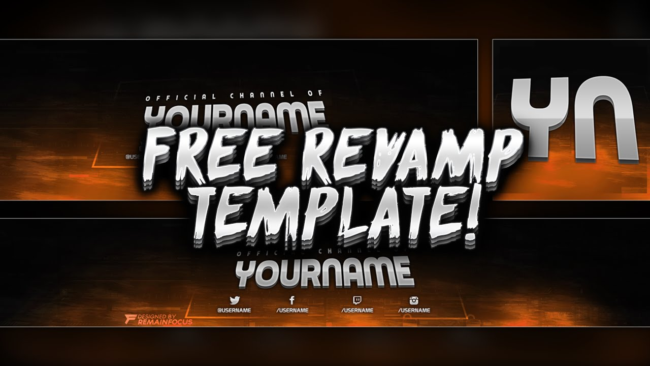 FREE Youtube Banner + Twitter Header Template PSD - Free Download - Free GFX
