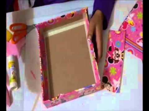 Como forrar un cajon youtube - Forrar cajas de carton con telas ...