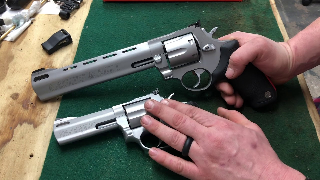 Comparison of Taurus Tracker 44 mag and Raging Bull 444