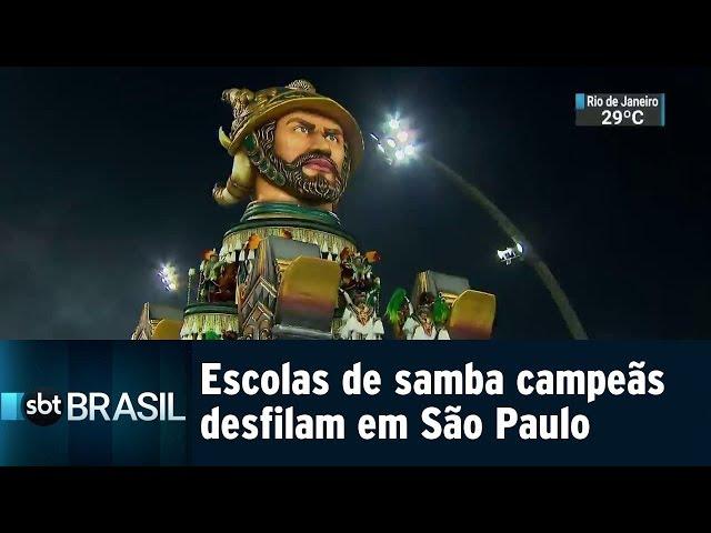 Escolas de samba campeãs desfilam em São Paulo | SBT Brasil (09/03/19)