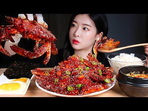 게살폭발 매운양념게장 게살비빔밥 (feat. 후식 아이스크림) 리얼사운드먹방/SPICY MARINATED CRAB 🦀CRAB BIBIMBAP Mukbang Eating Show