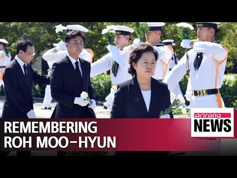 Memorial service held to mark 9th anniversary of death of late President Roh Moo-hyun