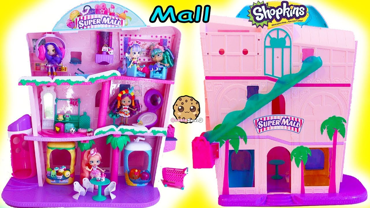 Giant Super Mall Shopkins Shoppies Doll Playset Surprise