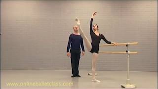 Ballet Lesson - How to lift the leg