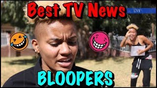 Best TV News Bloopers Fails - How people act when they realize they're on TV