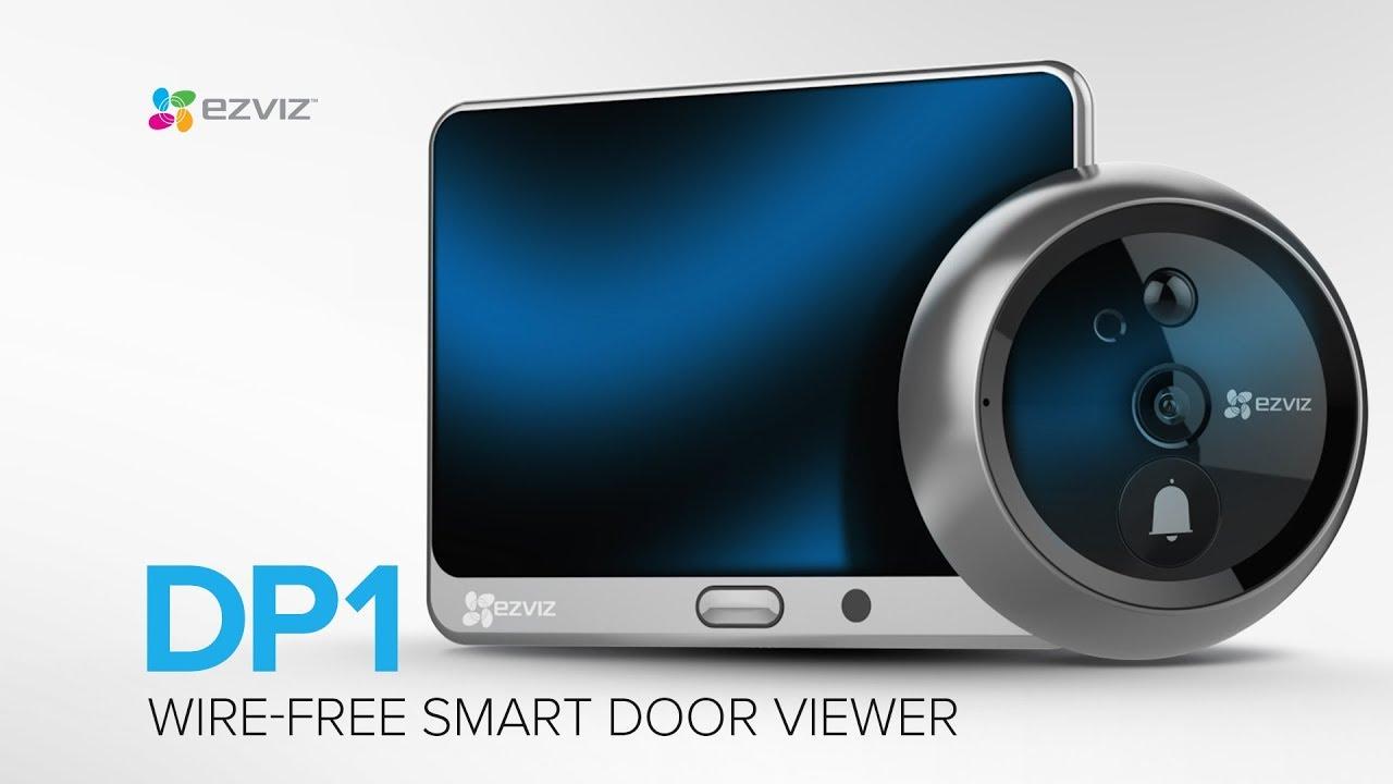 EZVIZ DP1 Wire Free Smart Door Viewer 4.3 Touch Screen HD Video /& Night Vision