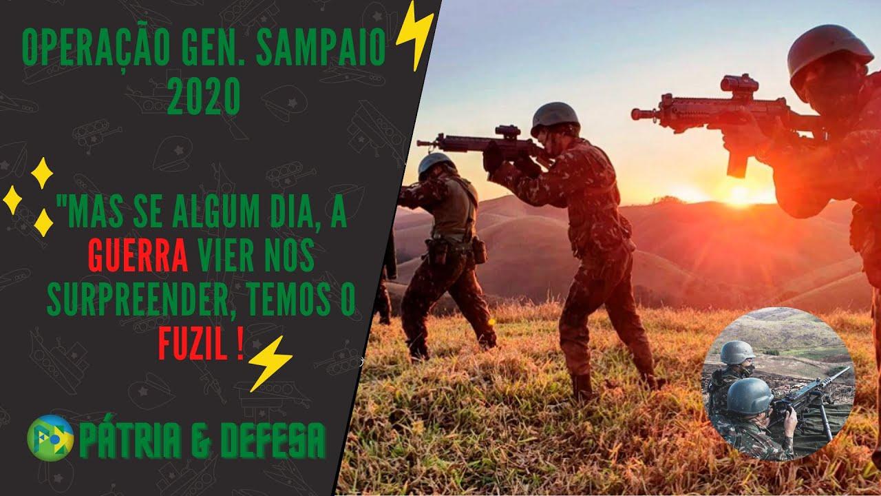 Se A Guerra Vier Nos Surpreender Temos o Fuzil - Operação General Sampaio. Exército Brasileiro.
