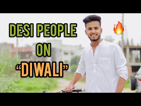 DESI PEOPLE ON DIWALI - | ELVISH YADAV |