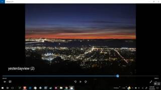 Nearly new moon turns to full moon then back to normal during sunset seen in California 12/2/2016