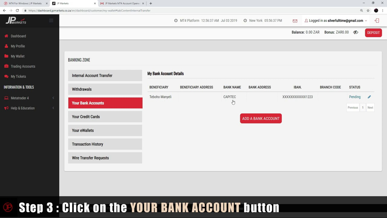 Adding A Bank Account Youtube