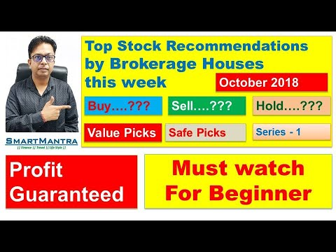 Top Picks-Brokerage House|Earn Money Online|Smart Investment by the Intelligent Investor|Oct 2018