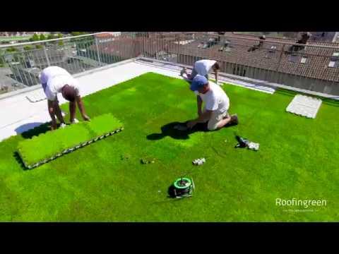 roofingreen nature nature drain leaf sistemi modulari a secco erba sintetica su superfici