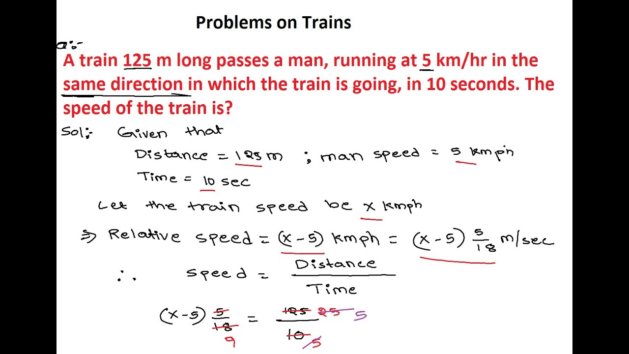 Problems on Trains 2 | Numerical Ability-Problems on Trains ...