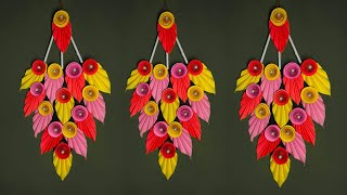 Wall Hanging With Paper // Wall Hanging Craft ideas // Easy Wall Hanging