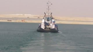 New Suez Canal: a scene in dredging week before the end of July 10, 2015