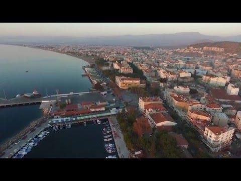 izmir Dikili tanıtım havadan çekim görüntüleridir