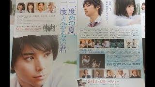 二度めの夏、二度と会えない君(2017)映画チラシ 2017年9月1日公開 シェ...