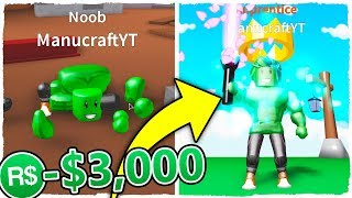 Spend 3,000 Robux on Roblox Saber Simulator to grow SUPER FAST